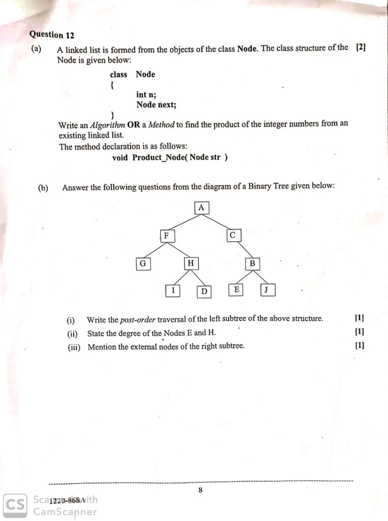 Isc computer science theory paper 1 2020
