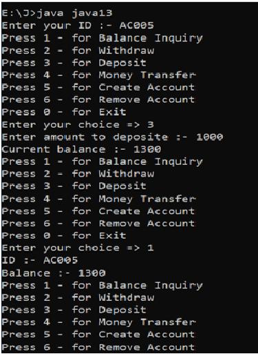java project atm machine