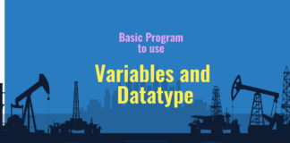 Variables and datatype