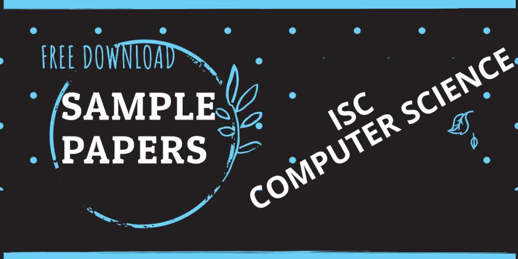 isc sample paper class xi