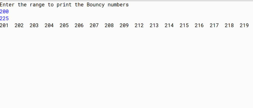 bouncy number